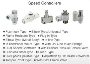 Easy to use one-touch fitting speed controller pneumatic parts