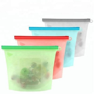 Eco Friendly Ziplock Leakproof Snack Reusable Silicone Food Storage Bag