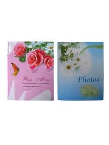 Floral cover photo album for 200 photos