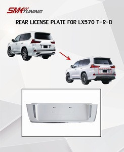 For 2016-UP LX570 TRD Rear License Plate white color,Good Quality