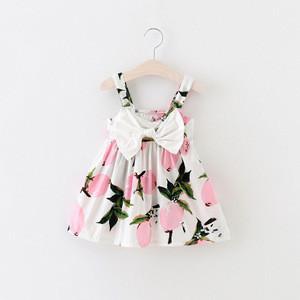 GG144 high summer kids girl sleeveless floral printing baby dresses