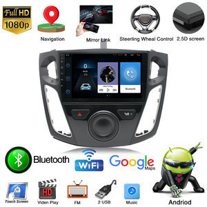 HD touch screen car auto radio navigation for Ford Focus 2012-2013 9.1 android system with Bluetooth video GPS navigator