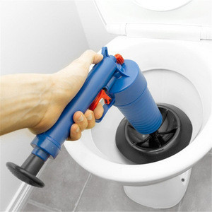 Home High Pressure Air Drain Blaster Pump Plunger Sink Pipe Clog Remover Toilets Bathroom Kitchen Cleaner Kit