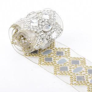 LOCACRYSTAL brand Clear AB Crystal Wedding Rhinestone Trim Chain Decorative Stone Beaded Trims for Bags