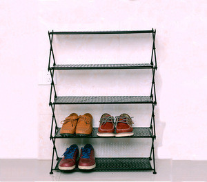 Modern  Style  Metal Iron Folding  Shoe rack  4 5 6 tiers Shoe Rack Cabinet  Living Room Furniture Shoe Display Rack