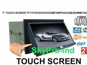 "New 7"" 16: 9 In Dash Touch Screen TFT With TV / DVD / VCD / CD / MP3 / Mpeg4 / AM / FM"