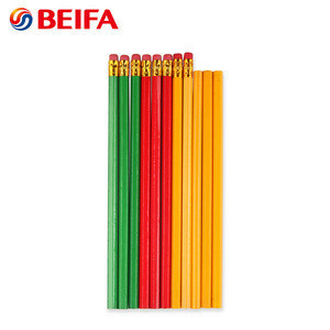 Ningbo BEIFA custom color newest promotional wooden pencil with eraser
