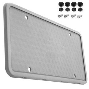 Non-Scratch Silicone License Plate Frame, Silicone Universal American License Plate Holder