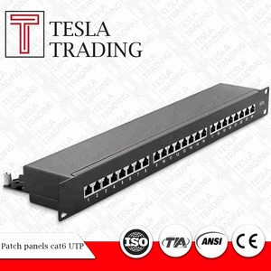 Patch panels cat6 - 24 x RJ 45 quick-fixing connectors
