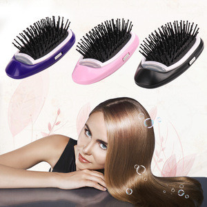 Portable Electric Ionic Hairbrush Styling Combs Scalp Massager for All Hair Types