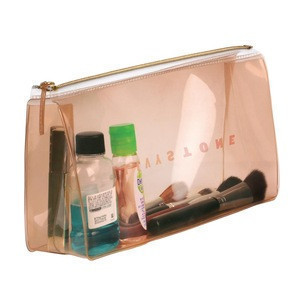 Portable Waterproof PVC clear Cosmetic storage Organizer Bag