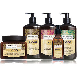 Private label organic hair care shampoo with castor oil for all hair types