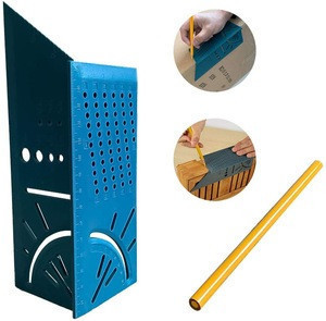 Professional Woodworking 3D Mitre Angle Measuring Square Size Measure Tool With Gauge And Ruler Corner Fittings
