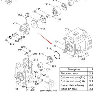 R320LC-7 Hydraulic pump HCE SHAFT-DRIVE XJBN-00153