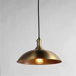 Residential Vintage Brass Pendant Light Iron Decoration Hanging Lamp Factory Supply