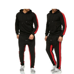 Track Suits For Men Red Color Fleece Made Gym Fitness Jogging Wear Track Suits