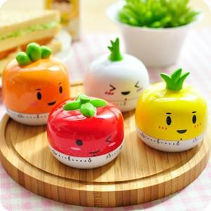 Wholesale Stock Small Order Cartoon Kitchen Mini vegetable Shape Timer