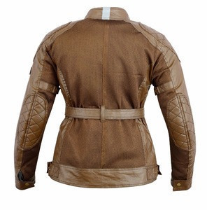 Women Brown Motorcycle & Motorbike Ladies Touring Summer Vented CE Jackets New