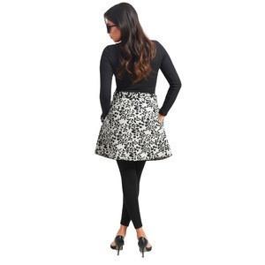 Women pattern mini skirt
