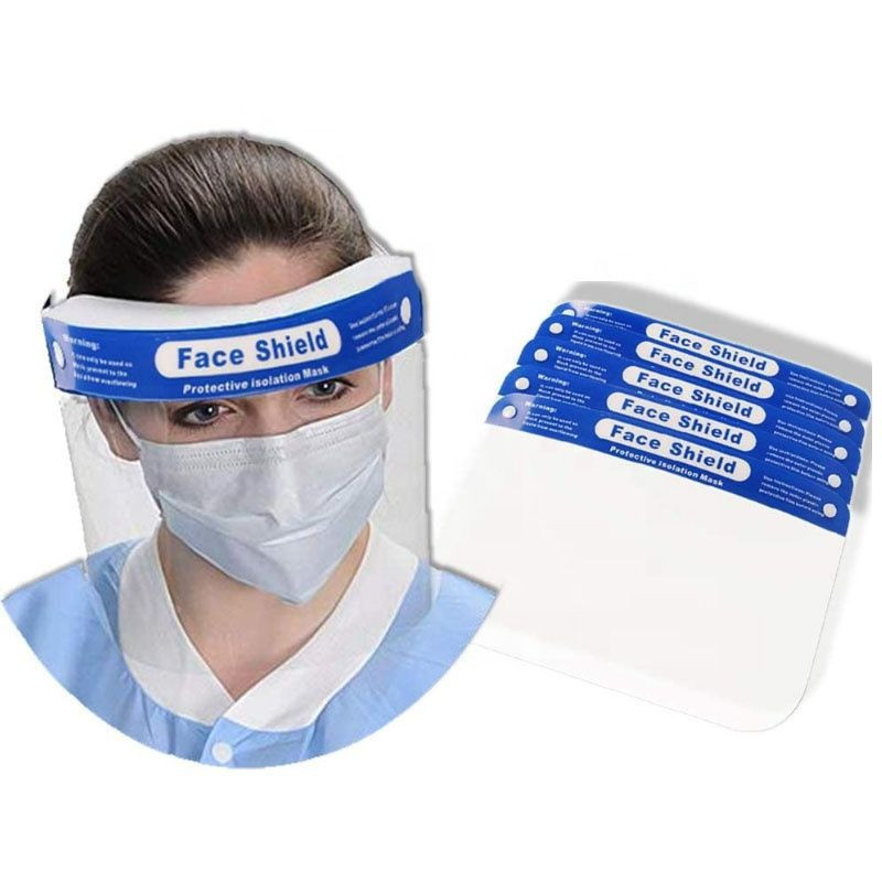 Large Instock Fast delivery CE FDA Disposable Plastic PET Protective Face Shield