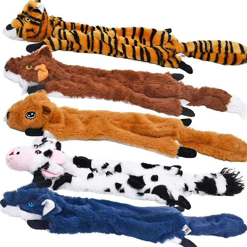 Dog squeak toy 5-pack pet toy fold dog toy no stuffed animal dog plush toy dog chew toy squeeze dog toy puppy toy