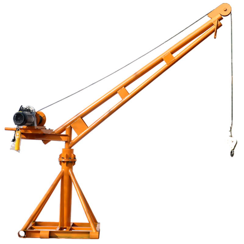 100-1000kg construction equipment small size Mobile wheel electric lifting arm crane for sale 100kg-12m-220v