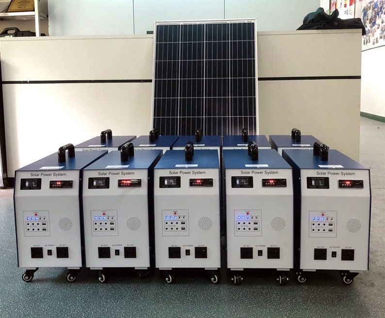 1000W off-grid home solar power system with inverter, battery, solar panel Off-grid household photovoltaic power generation pack