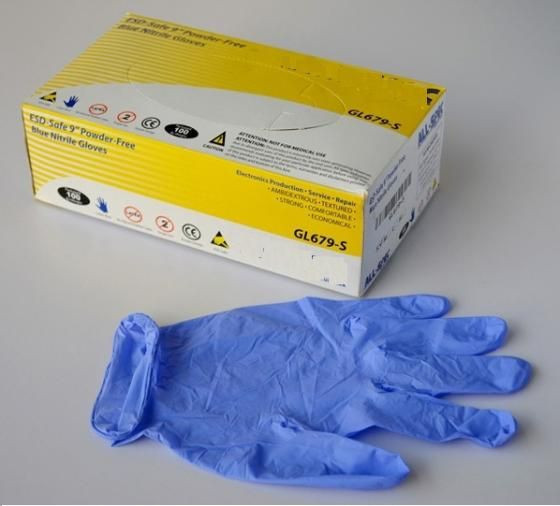 Nitrile disposable hand gloves for food industry