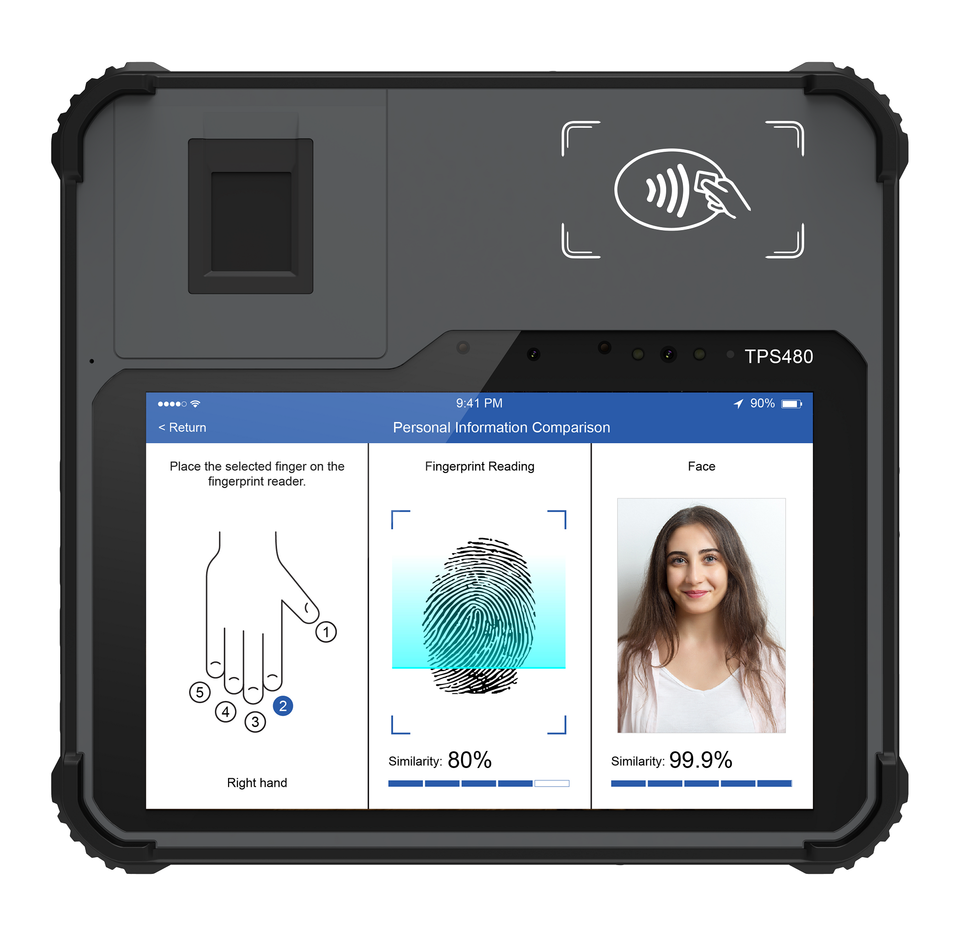 Android Biometric Tablet Portable