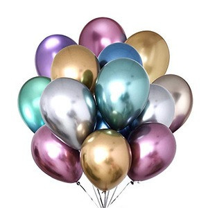 12 Inch Latex Metal Balloon Crayon Pearl Color Chrome-plated Helium Balloon Party Decoration