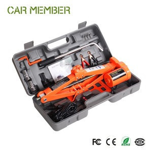 12V Mini 3 Ton Electric Powered Automatic Car Jack Hydraulic Jack And Impact Wrench With Parts For Cars Lifting Of Good Price