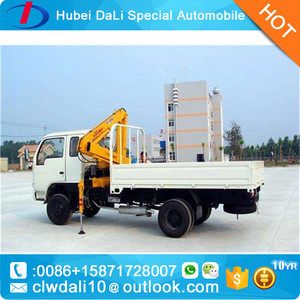 4x2 Hydraulic telescopic Truck mounted crane with folding arm