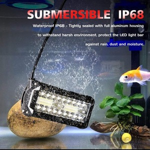 7 Inches LED Light Bar Submersible driving lights LED Pods Spot Flood Combo Beam OffRoad lights fog lights for Truck Trailer