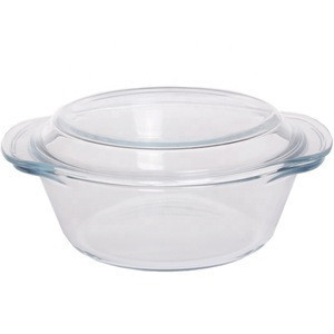 Baking dishes glass casserole cooking pot with glass  cover