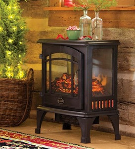 CE approved portable stove electric fireplace for bedroom use