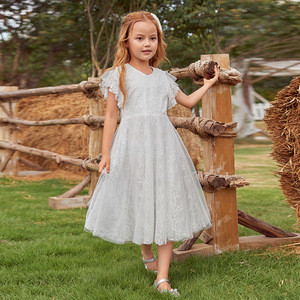 Ever-Pretty EK00857 Fancy A-Line Lace Wholesale Wedding Flower Girls' Dresses with Flutter Sleeves