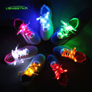 Factory price shoelaces led nylon shoe shoelace led for decoration