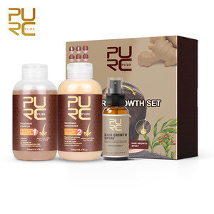 Hair Growth Thickening Shampoo And Conditioner ginger brown Hair Shampoo with oil high effective