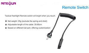 High quality durable B158 led flashlight remote pressure switch