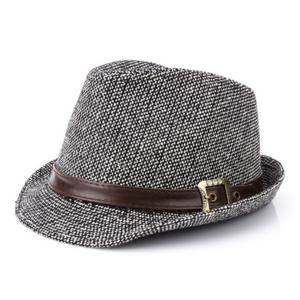 High Quality Fedora Hats Short Brim Trilby Cuban Gentle Caps