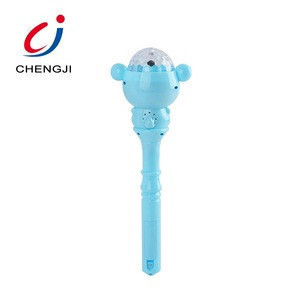 Hot sale girl plastic mini flash colorful magic light up wand toy for kids