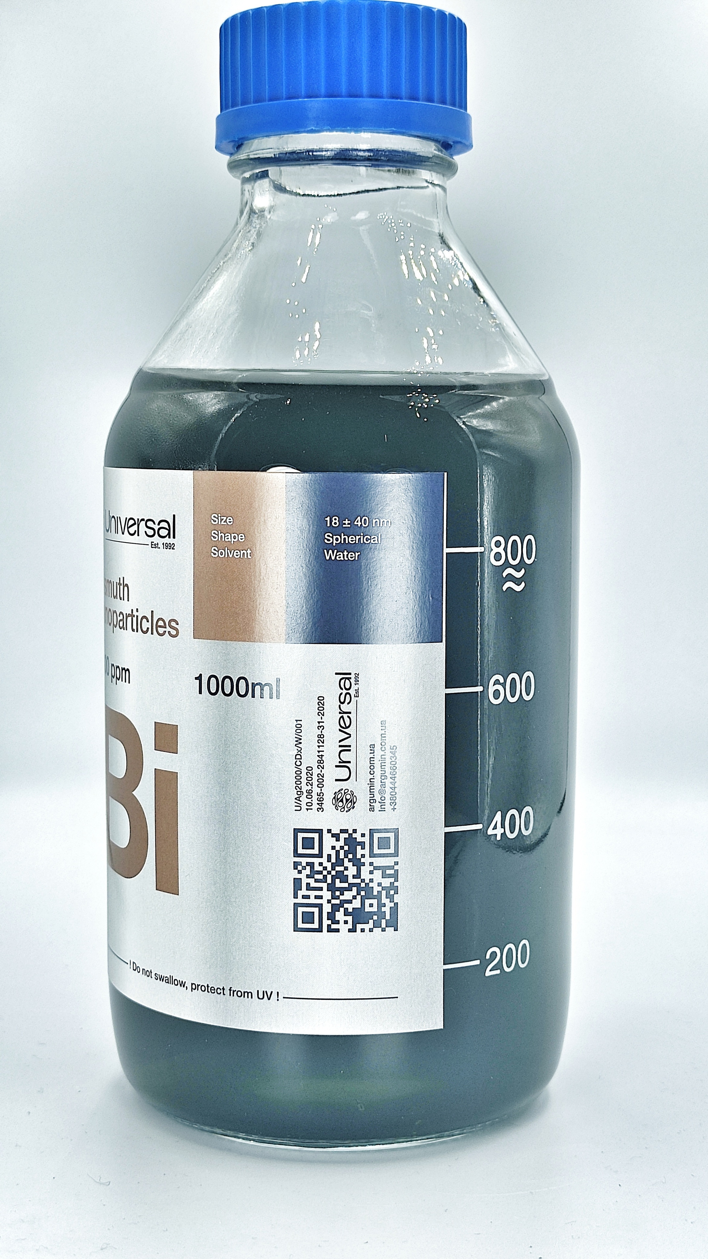Hot Selling Factory Price 1000ppm Bismuth Nanoparticles Fine Chemical Industry Colloidal Nano Bi