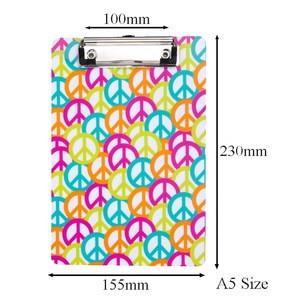 Medium 6/9 a5 size plastic clipboard with design