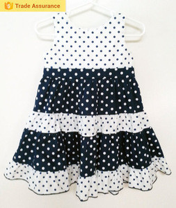 New Design Fashion Baby Wholesale Girls 100% Cotton Summer Frock Casual Dress Baby Girls Fashion Dress
