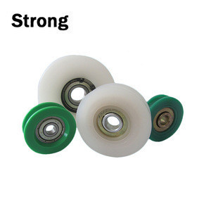 Ningbo factory OEM nylon rollers with ball bearing u groove