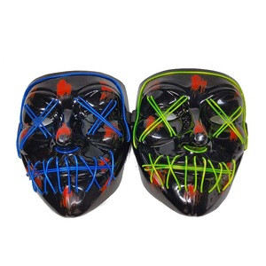 Party supply USB rechargeable  EL light up LED mask for Halloween
