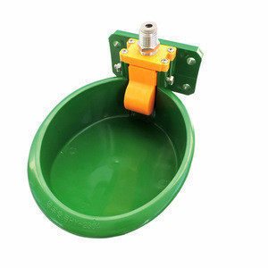Pig Hog Sheep Goat  Water Bowl Green Plastic Water Bowl for Pig Sheep Orange Valve Water Drinker