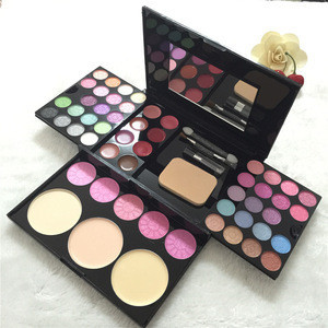Professional 54 colors miss rose aluminum box complete makeup palette set waterproof makeup set