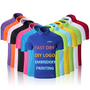 Promotional Polo Shirt with Customized Logo Embroidery Printing company Team Wear uniform wholesale