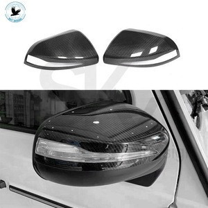Ready to ship car carbon fiber mirror for W464 G class G350 G500 carbon rearview side mirrors cover